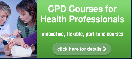 Image that reads: CPD Courses for Health Professionals: Click here for details