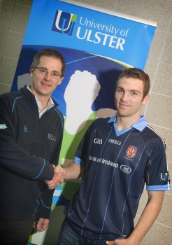 Dr Nigel Dobson, Co-Director of the Ulster Sports Academy, with Brendan Donaghy