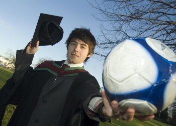 Ciaran Collins graduates today with a Masters degree in Sports Management