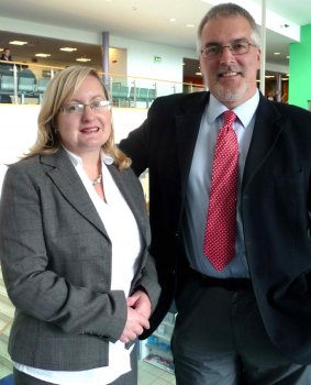 Dr Shirley Davey and Dr Mike Brennan