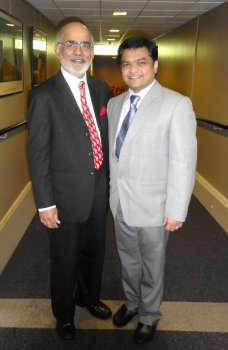 GOPIO President Lord Diljit Rana pictured with Dr Shaleen Singhal from Ulster's School of the Built Environment