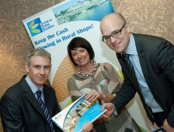Professor Barry Quinn, Dr Karise Hutchinson and Ian Smyth at the rural retailing workshop event.