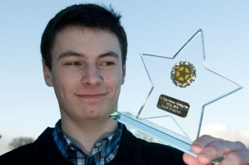 Conor O'Donnell, a second year BSc Computer Science student at Magee, who was presented with a number of awards for his excellent first year performance