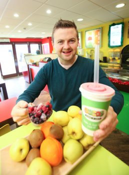 Michael Nugent who runs Sucos Shake 'n' Juice