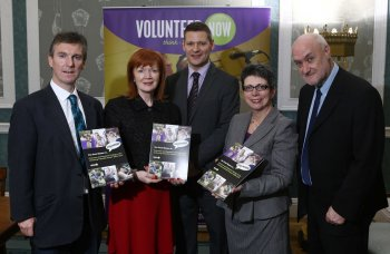 Dr John Mallett, Psychology Research Institute;Dr Anne Tracey, Psychology Research Institute; Billy Eagleson, manager, Unlocking Potential Project, Volunteer Now;Wendy Osborne OBE, Chief Executive, Volunteer Now; and Professor Maurice Stringer, Director, Psychology Research Institute
